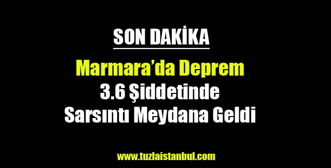 Marmara 3.6 Şiddetinde Sallandı...