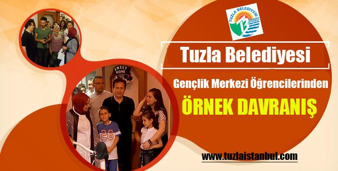Tuzla Belediyesi Gençlik Merkezi Öğrencilerinden Örnek Davranış.