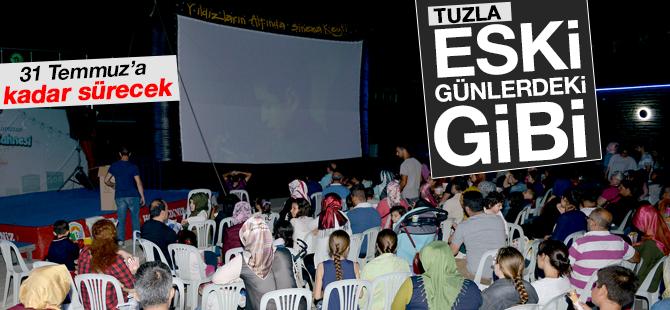 Tuzla'da Açık Hava Sinema günleri başladı...