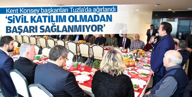 Anadolu Yakası Kent Konseyi Başkanları Tuzla'da ağırlandı.