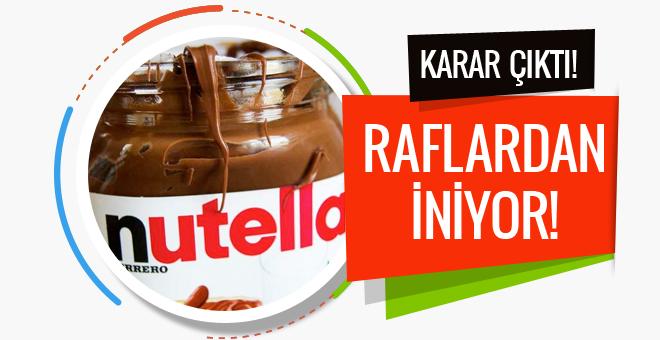 Nutella raflardan bir bir iniyor...