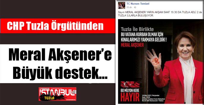 CHP Tuzla örgütünden Meral Akşener'e büyük destek…