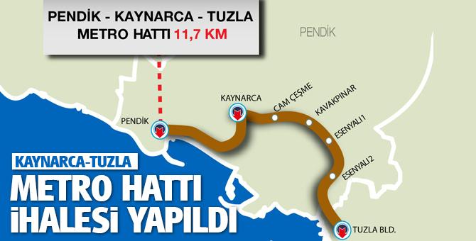 Kaynarca-Tuzla Metro hattı İhalesi gerçekleşti...