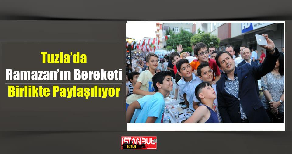Tuzla'da Ramazan'ın Bereketi Birlikte Paylaşılıyor.