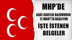 MHP'de Aday Adaylık Süreci Başlıyor…
