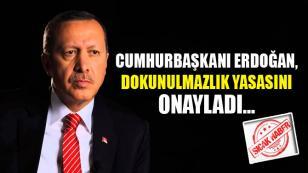 Cumhurbaşkanı Erdoğan, Dokunulmazlık Yasasını Onayladı.