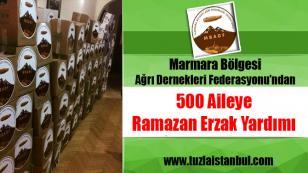 Marmara Bölgesi Ağrı Dernekleri Federasyonundan Ramazan yardımı...