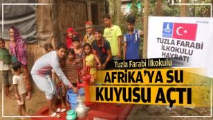 Tuzla Farabi İlkokulu Afrika'ya Su Kuyusu Açtı.
