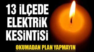 İstanbul'da 13 ilçede elektrik kesintisi olacak...