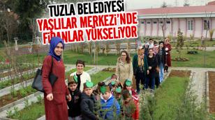 Tuzla Belediyesi AÇEM'li minikler kursiyer fidan dikti...