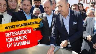 Çavuşoğlu'ndan referandum tahmini...