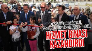 Tuzla Belediyesinden Atatürk İlkokulu'na da Ek Hizmet Binası...