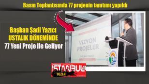 Başkan Şadi Yazıcı  Ustalık Döneminde  77 Yeni Proje ile geliyor…