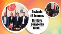 Tuzla'da 15 Temmuz Birlik ve Beraberlik Ruhu…