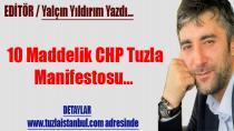 Gazeteci Yalçın Yıldırım'dan 10 Maddelik CHP Tuzla Manifestosu…