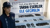 Tuzla'da yapılan operasyonda tarihi eserler ele geçirildi...