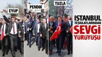 AK Parti teşkilatlarından Sevgi yürüyüşü...