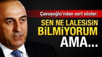 Bakan Çavuşoğlu: Sen ne lalesisin bilmiyorum ama...