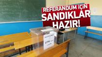 Tuzla'da Referandum sandıkları hazır...