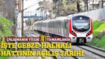 Gebze-Halkalı demiryolu hattı için tarih verildi...