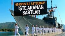 Deniz Kuvvetleri Komutanlığı 60 KPSS puanıyla Astsubay alacak