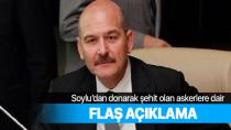 İçişleri Bakanı Soylu'dan donarak şehit olan askerlere ilişkin açıklama