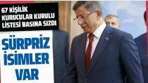 Ahmet Davutoğlu'nun Gelecek Partisi'nin kurucular listesi ortaya çıktı...