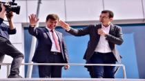 Tuzla'lılar Ekrem İmamoğlu ve Salim Gürsoy'u bağrına bastı.