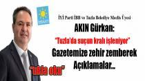 """İYİ Parti'li Akın Gürkan """"Başkan Yazıcı ve ekibi suçun kralını işliyor"""" dedi."""