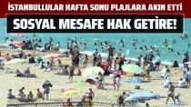 İstanbullular hafta sonu plajlara akın etti.
