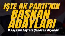 AK Parti'nin yeni İstanbul ilçe başkan adayları açıklandı! İl Başkanı Bayram Şenocak duyurdu