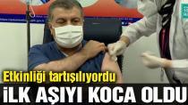 Sağlık Bakanı Koca canlı yayında corona aşısı oldu