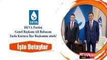 DEVA Partisi Genel Başkanı Ali Babacan Tuzla Kurucu İlçe Başkanını atadı!